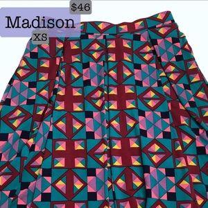 XS LuLaRoe Madison Skirt with Pockets! NWT